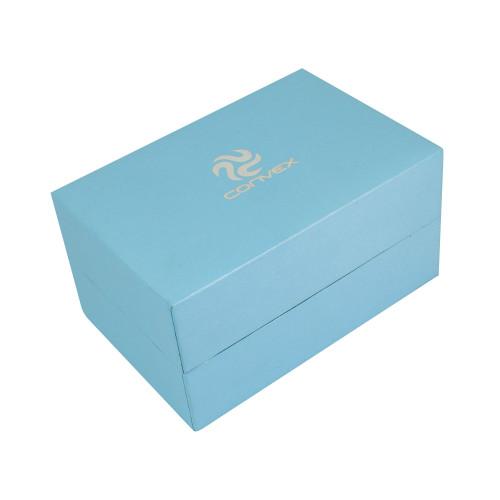 Porta-joias Convex Noblesse para Anel + Brinco + Colar + Pulseira. Cor Azul.