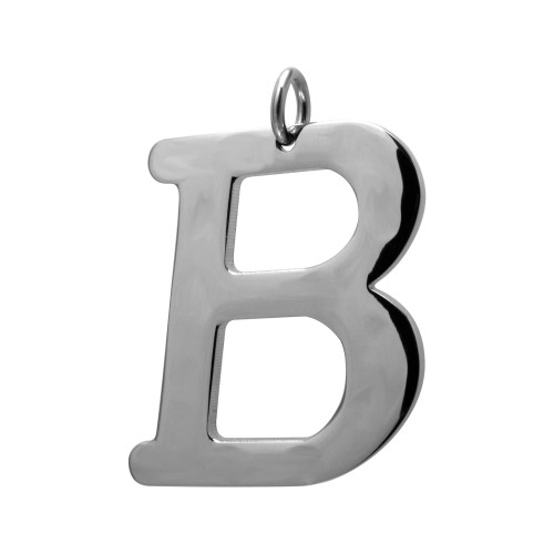 Pingente Aço Letra B