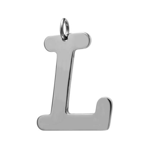 Pingente Aço Letra L