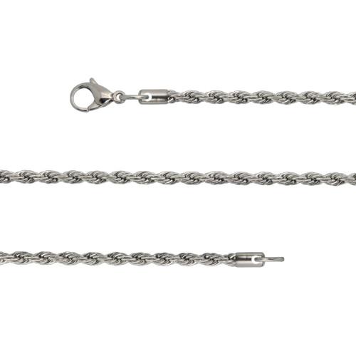 Corrente Aço Corda Diamantada 2mm 60cm