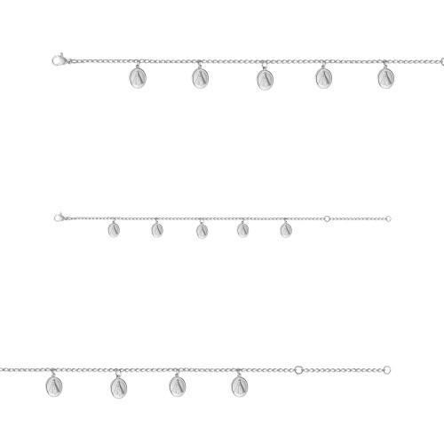 Pulseira Aço GLAM Groumet NSra. Aparecida 0.9x0.7mm 21cm