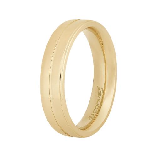 Aliança Aço Delicata 5mm Gold IPG