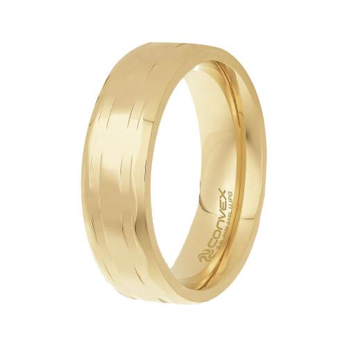 Aliança Aço Lohan 6.50mm Gold IPG