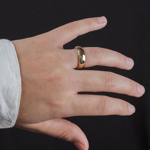 Aliança Aço Goldness Lisa 5mm