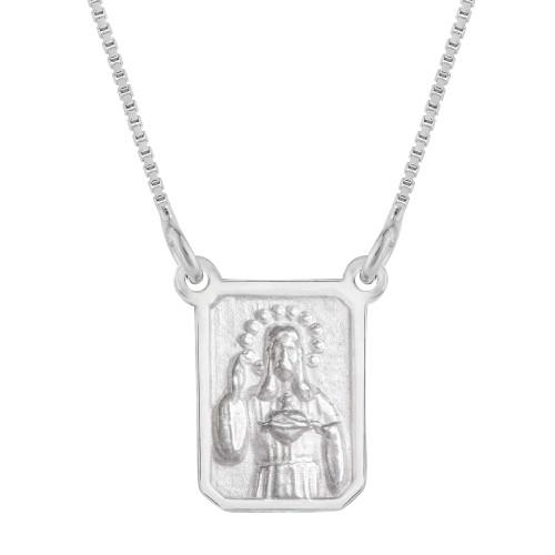 Escapulário Prata S C Jesus e NSra do Carmo