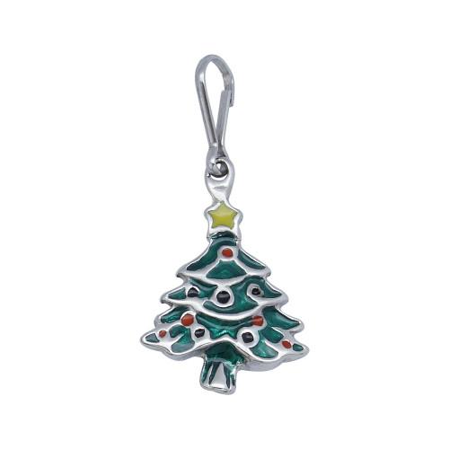 Pingente Aço Árvore Natal 20x16mm
