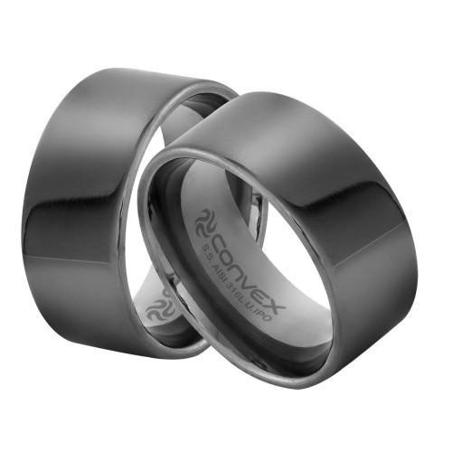 Anel/Aliança de Aço Liso 10mm U.IPO
