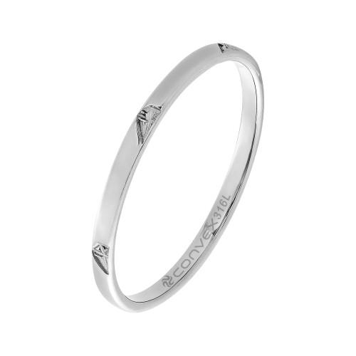Aliança Slim Aço Diamond 1.90mm