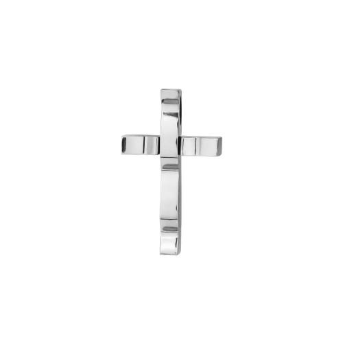 Colar Aço Cartier Cruz IPB 25x15mm 50cm