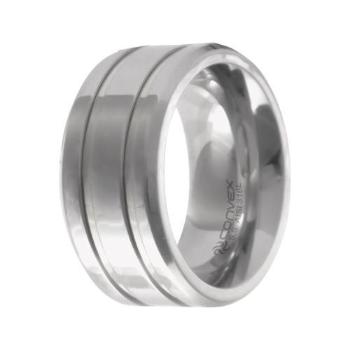 Aliança Aço Chrome Double Thin 10mm