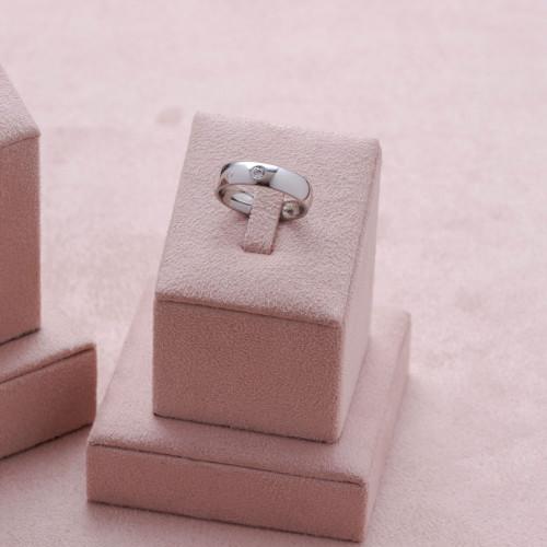 Aliança Aço Lille Confort 5mm com Zircônia