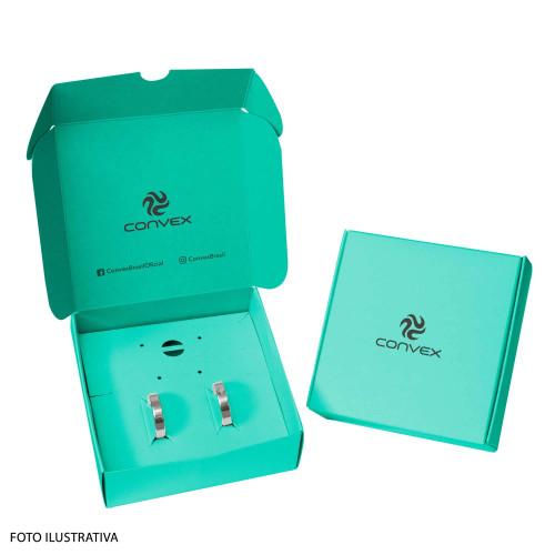 Caixa Porta Joias Convex P10cm A3,5cm C10,5cm. Pacote com 10 unidades