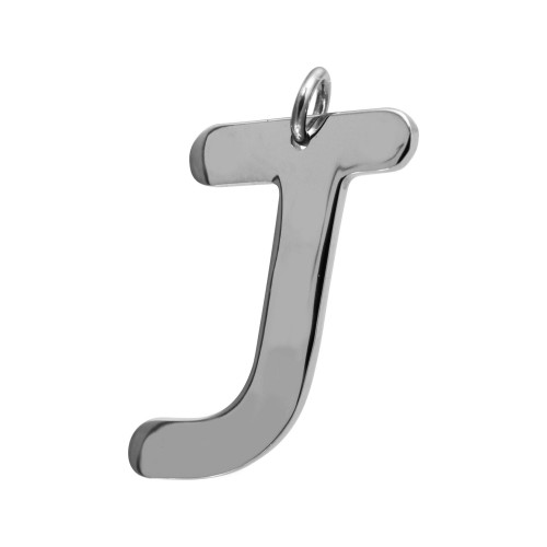 Pingente Aço Letra J