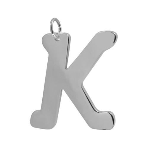 Pingente Aço Letra K