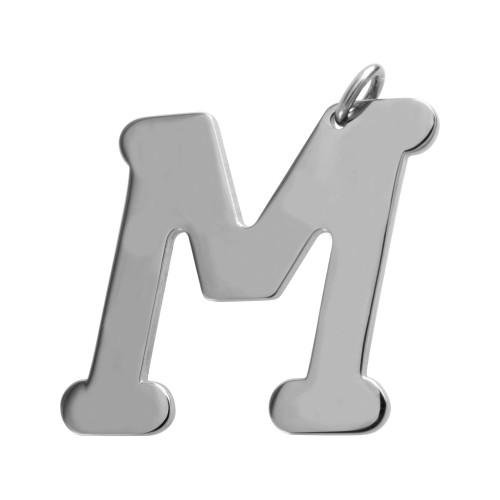 Pingente Aço Letra M