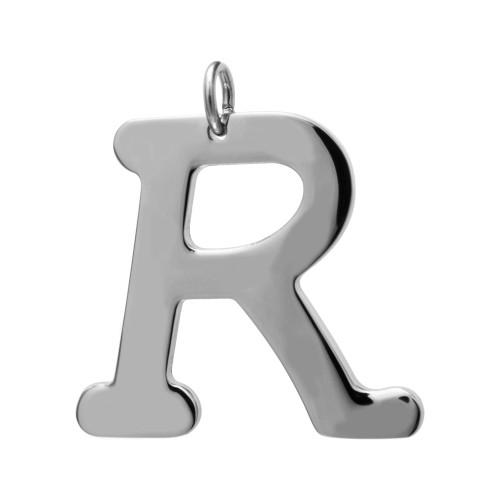 Pingente Aço Letra R