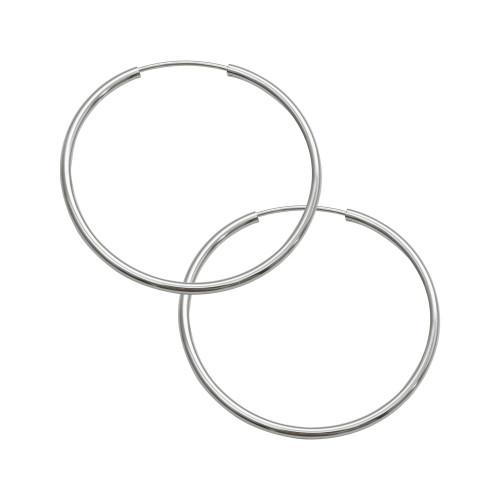 Brinco Aço Argola Circulo 55x2mm