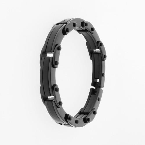 Pulseira Aço Infinite Black Full IPB 13mm 21cm