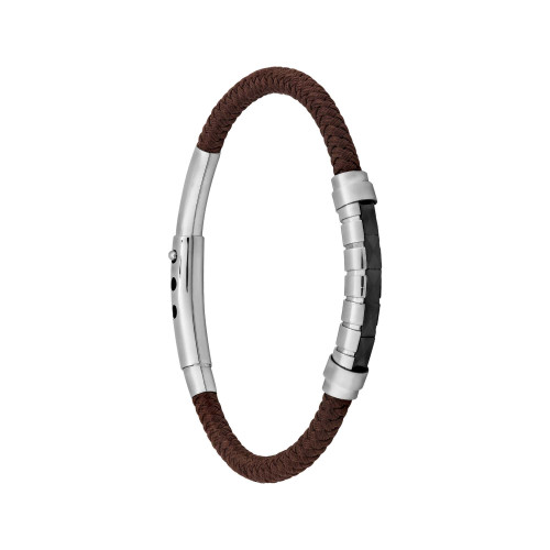 Pulseira Aço Elite Brown Black Ceramic Woof 5mm