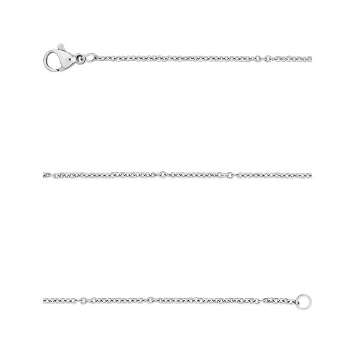 Corrente Aço Cartier Elos Ovais 1.50mm 45cm
