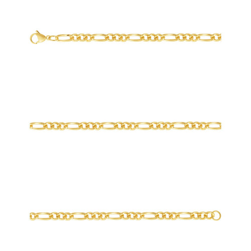 Corrente Aço Groumet 3x1 5.85mm 50cm Gold IPG