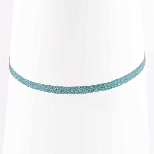 Colar Choker Malha Metalizada Alemã Azul 36cm.