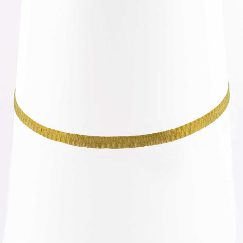 Colar Choker Malha Metalizada Alemã Dourada 45cm.