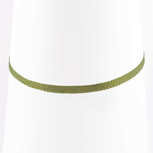 Colar Choker Malha Metalizada Alemã Verde 36cm.