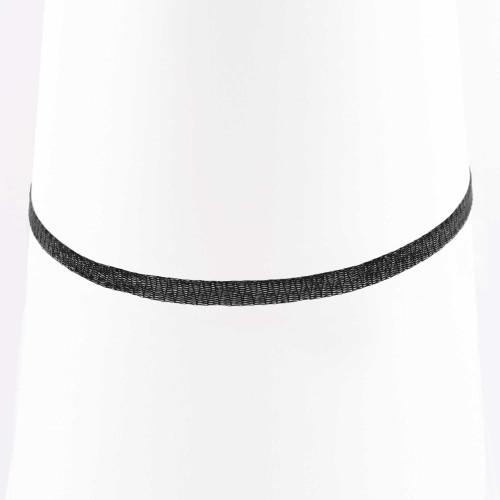 Colar Choker Malha Metalizada Alemã Preta 36cm.