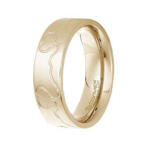 Aliança Aço Infinity Love 6.50mm Gold IPG