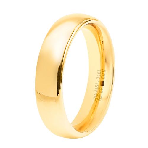 Aliança Aço Goldness SE 5mm