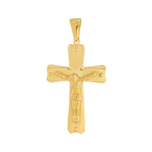 Pingente Aço Crucifixo com Pai Nosso IPG