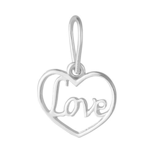 Pingente Prata Link Coração Love