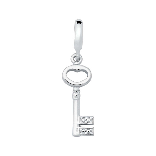 Pingente Prata Link Chave Pendente 28x7mm