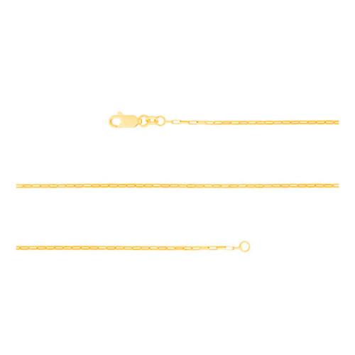 Corrente Prata Revestida de Ouro 18K Elos Retangulares 1.05mm 40cm
