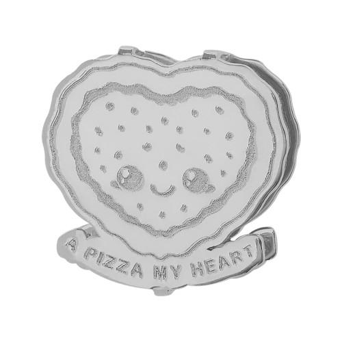 Pingente Aço Hit A Pizza My Heart 16.5mm