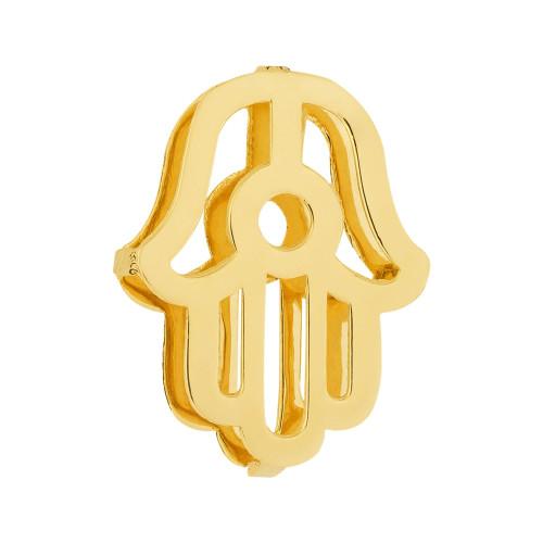 Pingente Aço Hit Mão de Fátima 16.5mm Gold IPG