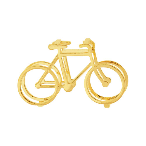 Pingente Aço Hit Bicicleta 16.5mm Gold IPG