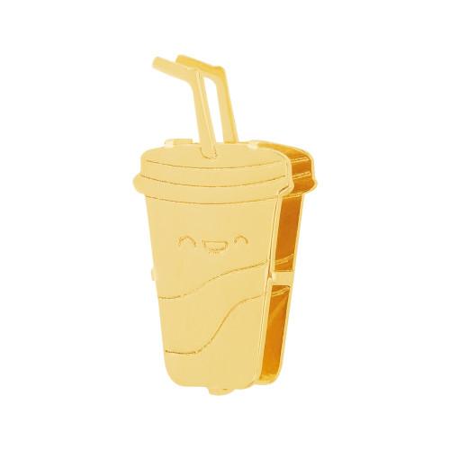 Pingente Aço Hit Milk Shake 11.5mm Gold IPG