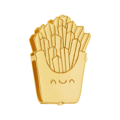 Pingente Aço Hit Batata Frita 11.5mm Gold IPG