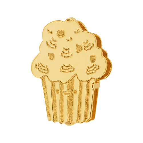 Pingente Aço Hit Cupcake 16.5mm Gold IPG