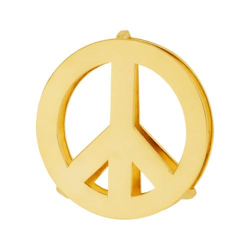 Pingente Aço Hit Simbolo da Paz 16.5mm Gold IPG