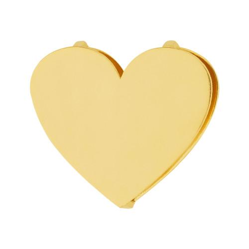 Pingente Aço Hit Coração 16.5mm Gold IPG