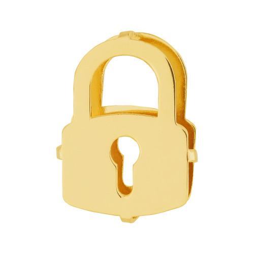 Pingente Aço Hit Cadeado 16.5mm Gold IPG