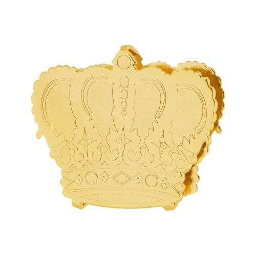 Pingente Aço Hit Coroa 16.5mm Gold IPG
