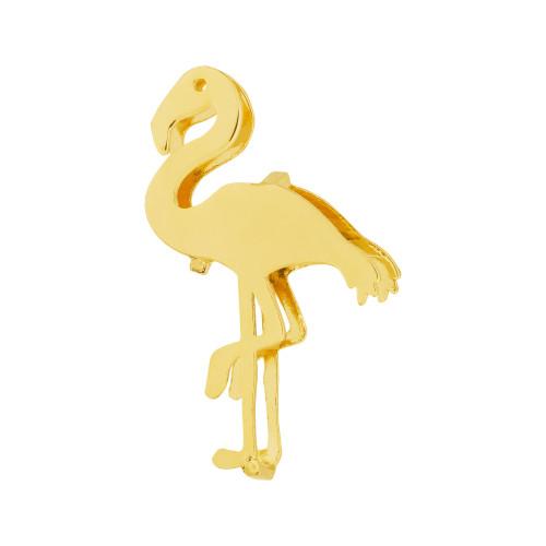 Pingente Aço Hit Flamingo 16.5mm Gold IPG