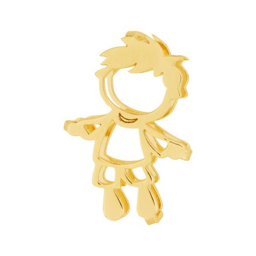 Pingente Aço Hit Menino 16.5mm Gold IPG