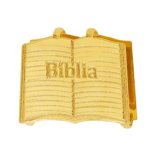 Pingente Aço Hit Bíblia 16.5mm Gold IPG