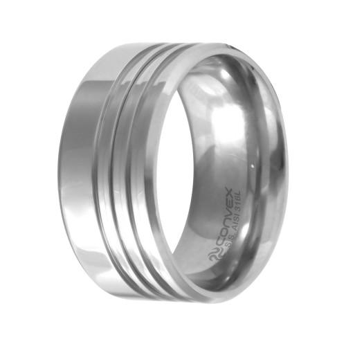 Aliança Aço Chrome Triple 10mm
