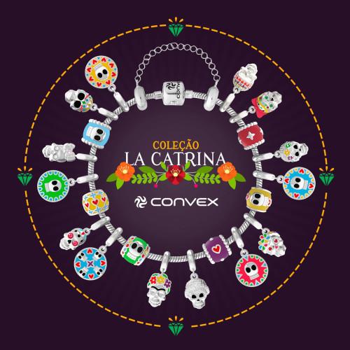 Kit La Catrina, com 20 Berloques com motivos de Caveira